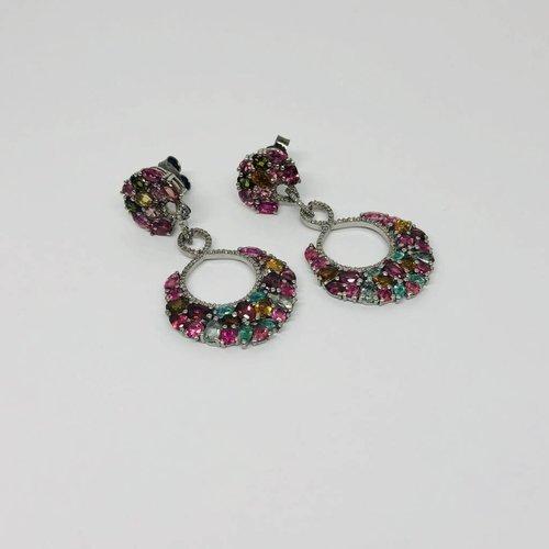 Lotasi Multi-Colored Drop Earrings