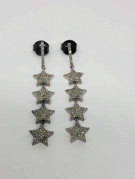 Lotasi Pave Star Drop Earring