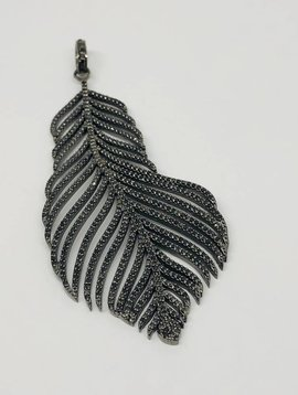 Lotasi Pave Feather Pendant