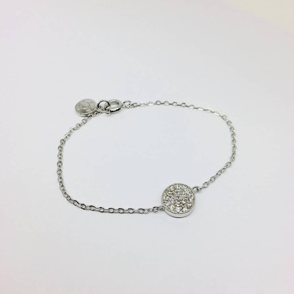 Nyla Star Pave Disc Bracelet