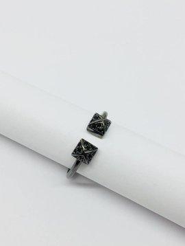 Nyla Star Pave Stud Ring