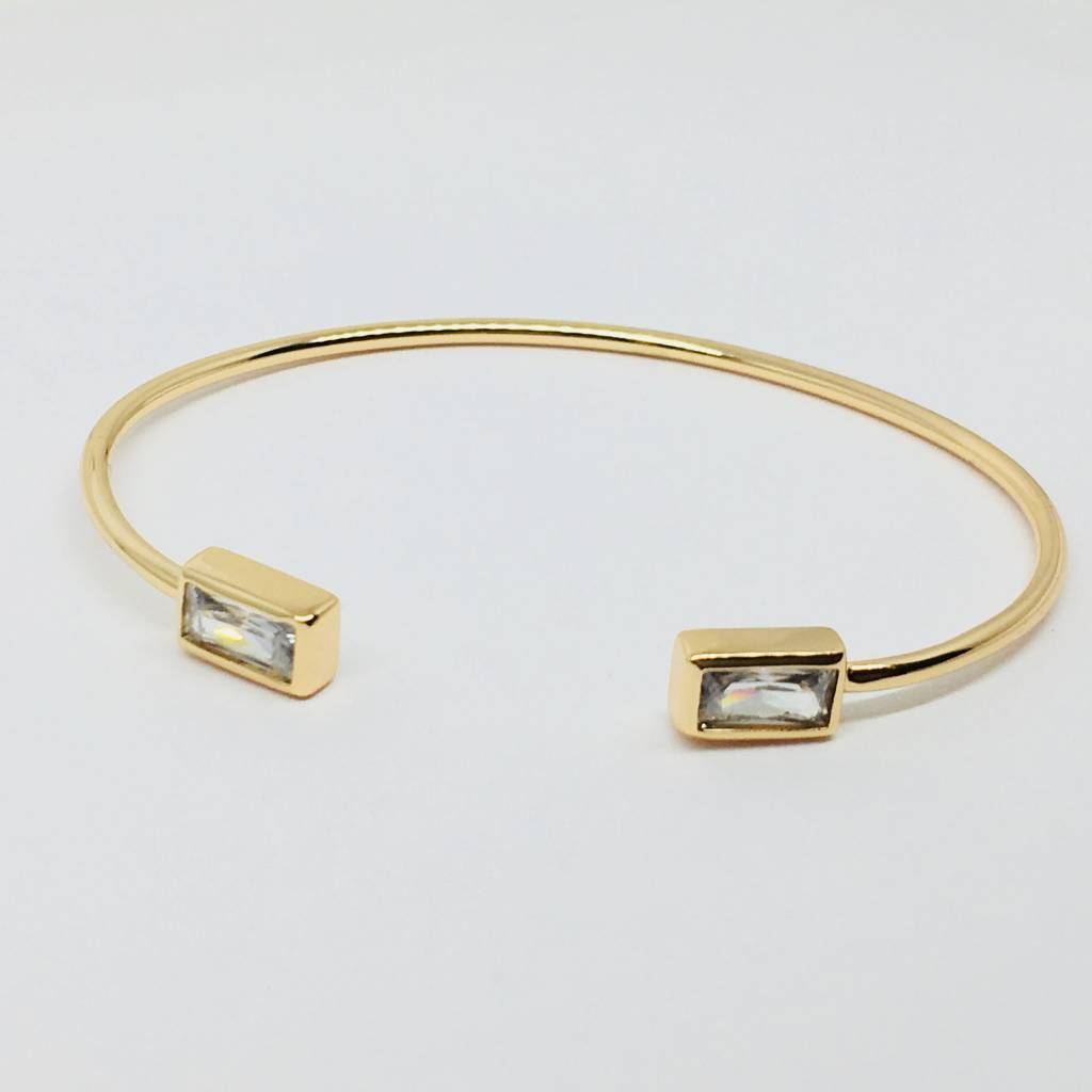 Rachael Ryen Open Crystal Rectangle Bracelet