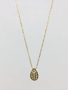 Dana Rebecca Yellow Gold Teardrop Necklace