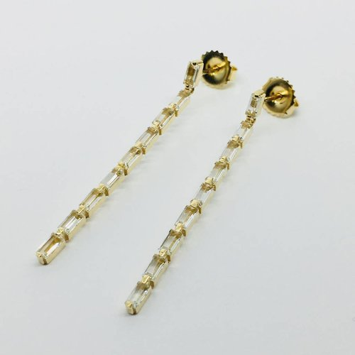 Suzanne Kalan Yellow Gold Stick Earrings