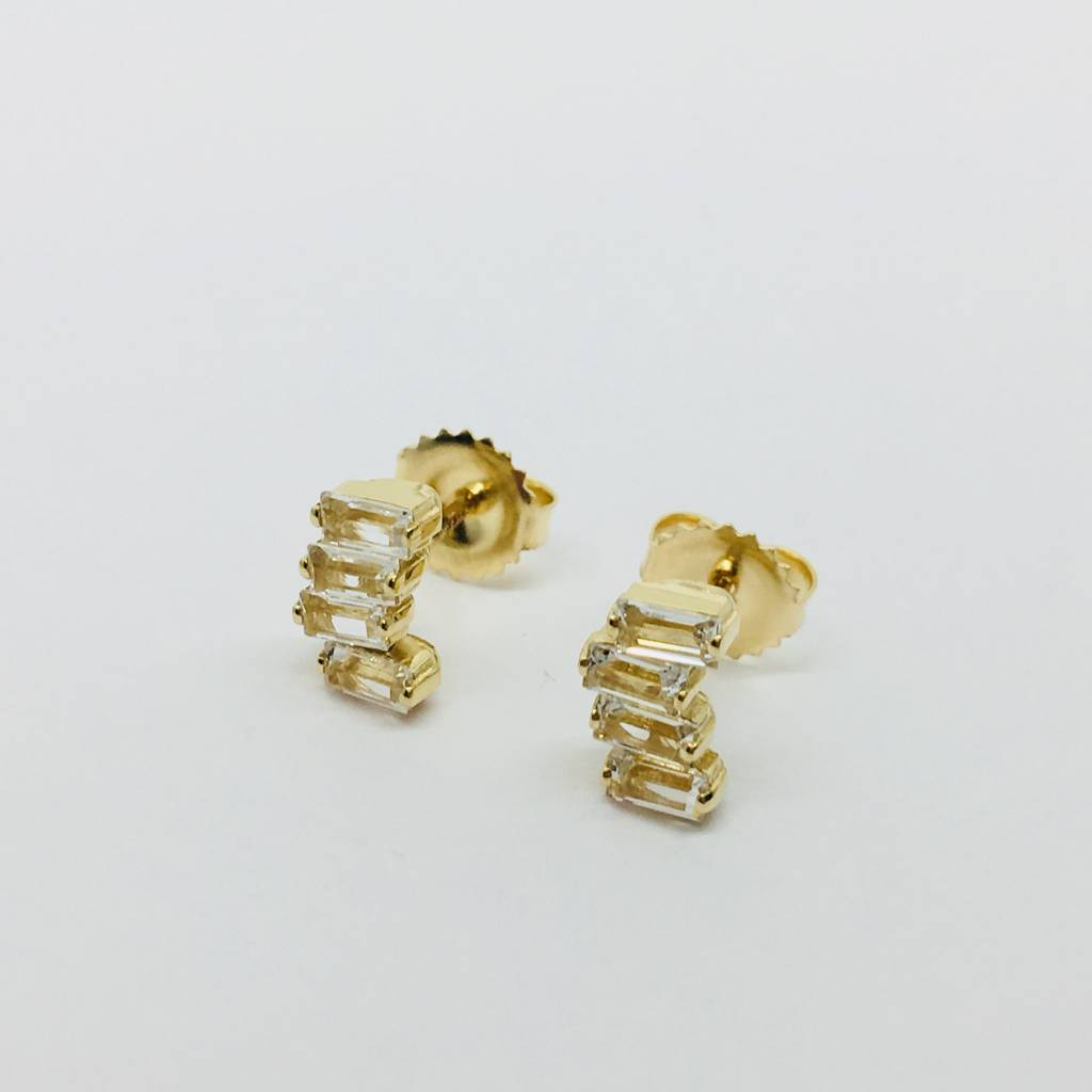 Suzanne Kalan Stacked Baguette Studs
