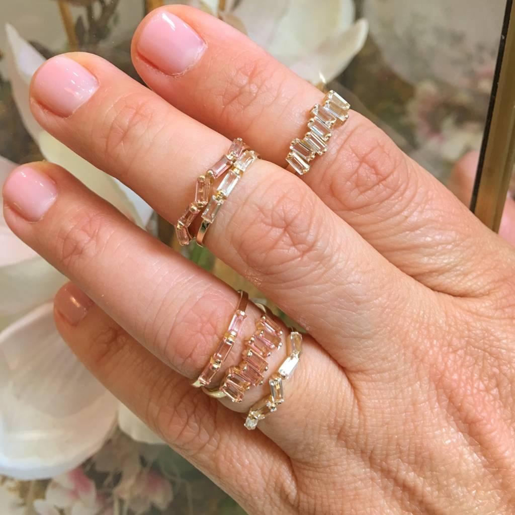 Suzanne Kalan Zig Zag Baguette Ring