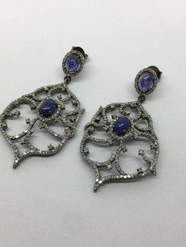 Lotasi Tanzanite and Diamond Earrings