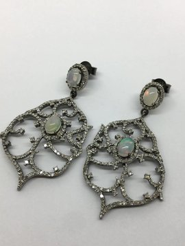 Lotasi Opal and Diamond Earrings