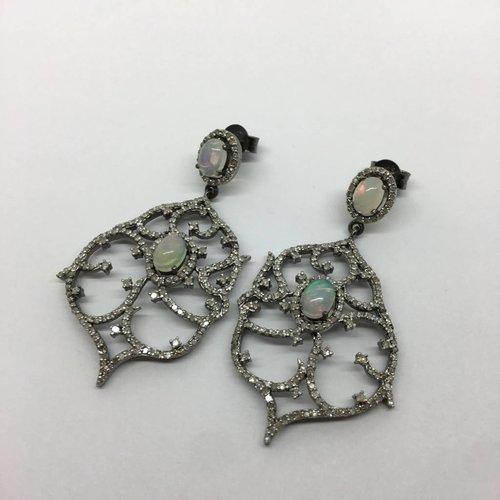Lotasi Opal and Diamond Earrings
