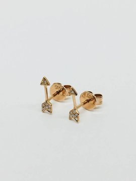 Diamond Rose Gold Arrow Earrings