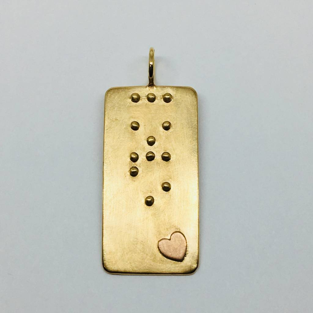 Heather Moore Braille Love Charm
