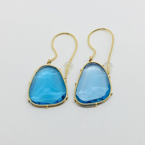 Heather Moore Swiss Blue Topaz Earrings
