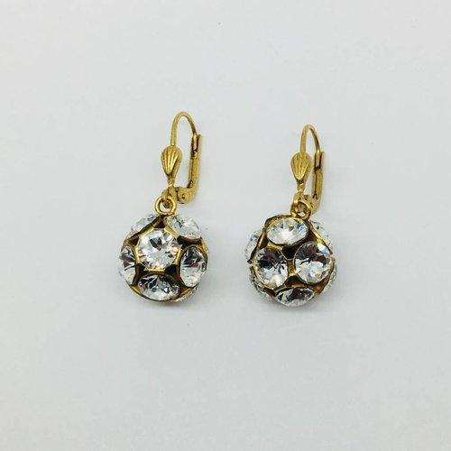 La Vie Parisienne Crystal Ball Earrings