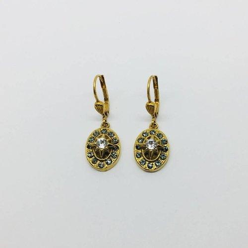 La Vie Parisienne Oval Star Earrings
