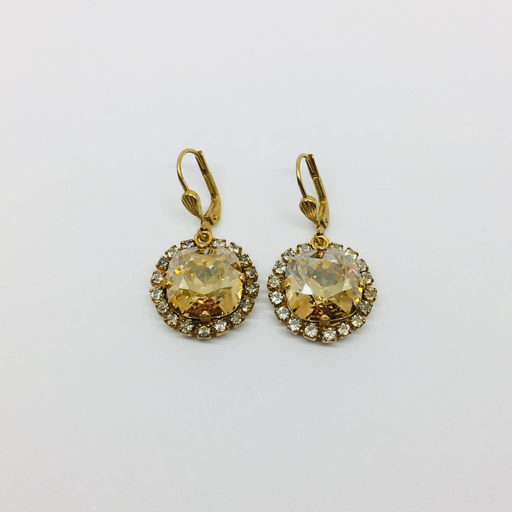 La Vie Parisienne Stone and Cup Chain Earrings