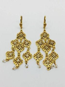 La Vie Parisienne Chandelier Drop Earrings