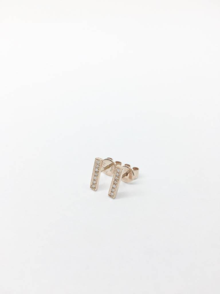 Dana Rebecca Diamond Bar Earrings