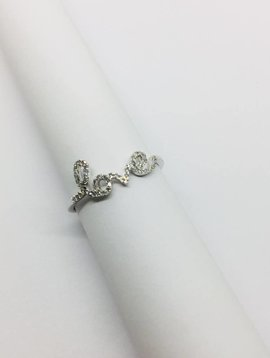 Lotasi White Gold and Diamond Love Ring