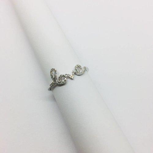 Lotasi White Gold and Diamond Love Ring