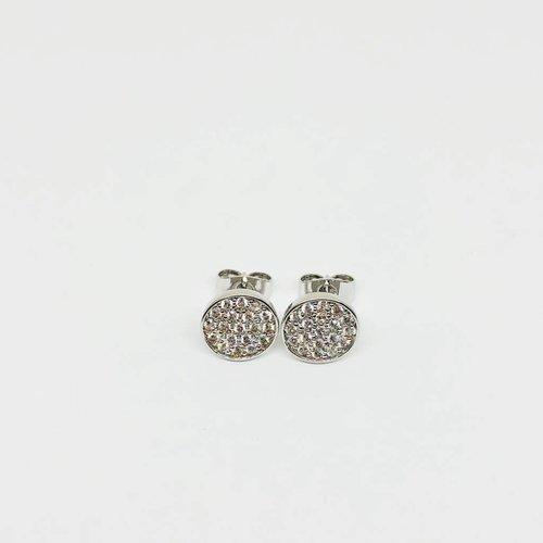Nyla Star Silver Disc Earrings