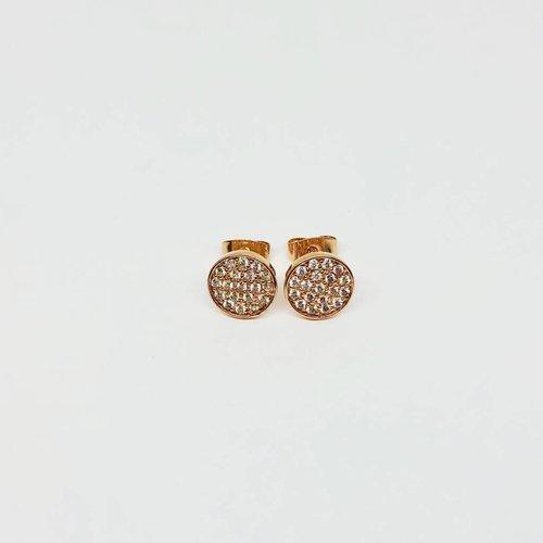 Nyla Star Rose Gold Disc Earrings