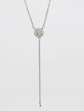 Nyla Star Silver Lariat Necklace
