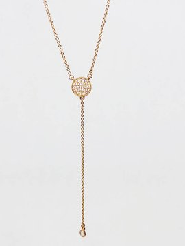 Nyla Star Rose Gold Lariat Necklace