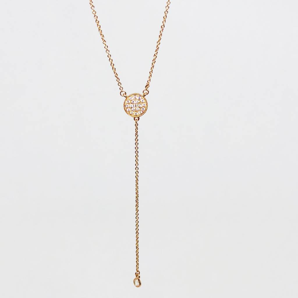 Nyla Star Rose Gold Lariat Necklace