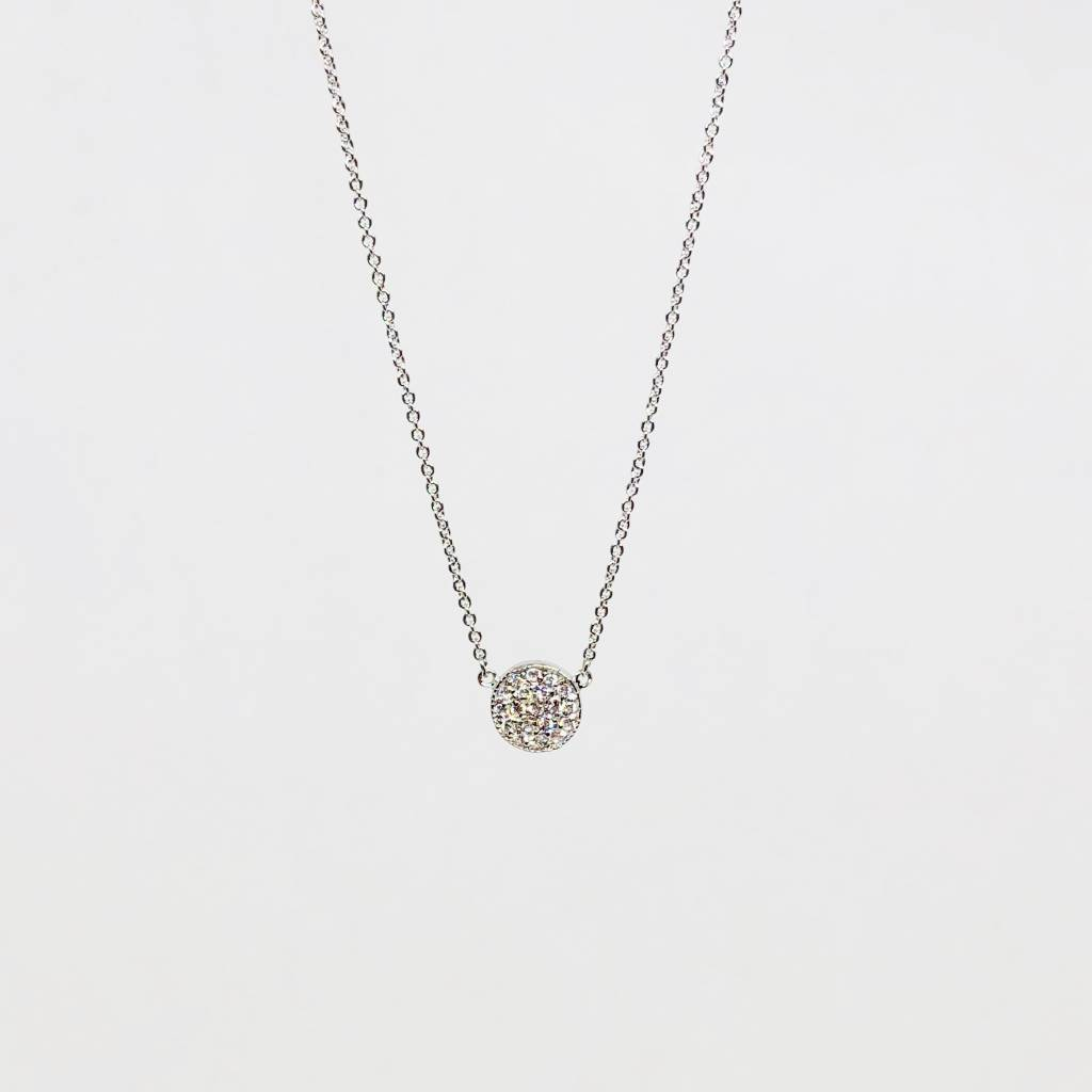 Nyla Star Silver Disc Necklace