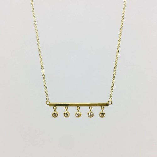 Jennifer Meyer Jennifer Meyer Diamond Bezel and Bar Necklace