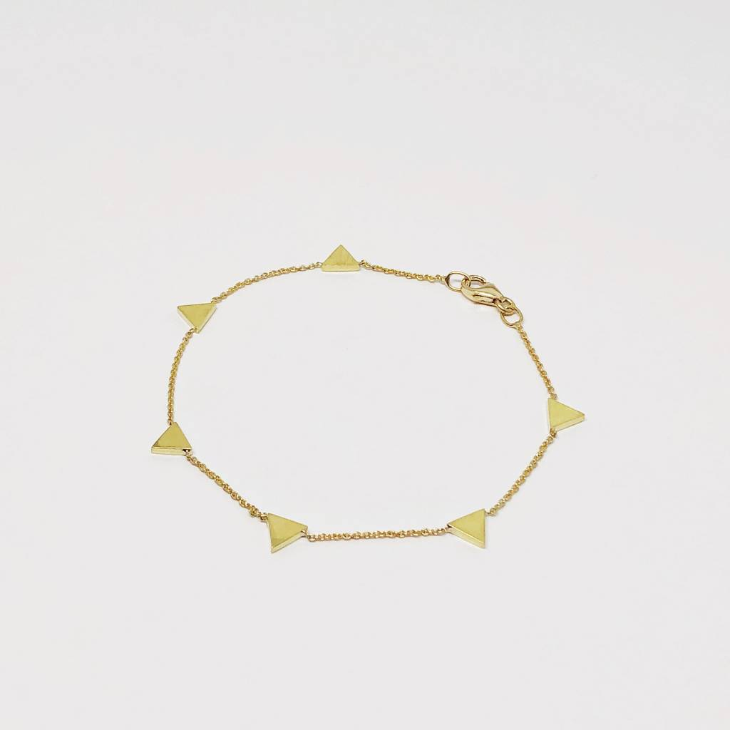 Jennifer Meyer Triangle By The Inch Bracelet