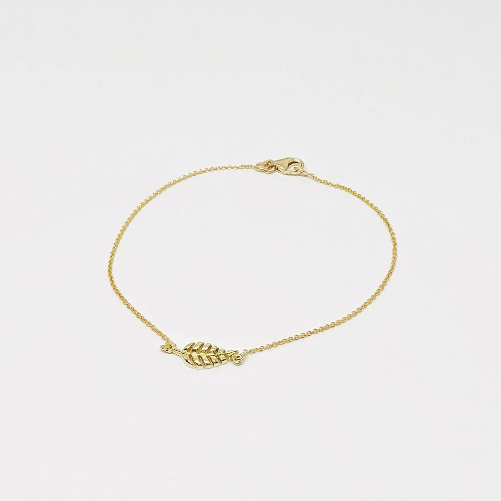 Jennifer Meyer Mini Leaf Bracelet
