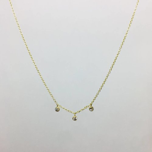 Jennifer Meyer Jennifer Meyer 3 Diamond Bezel Necklace