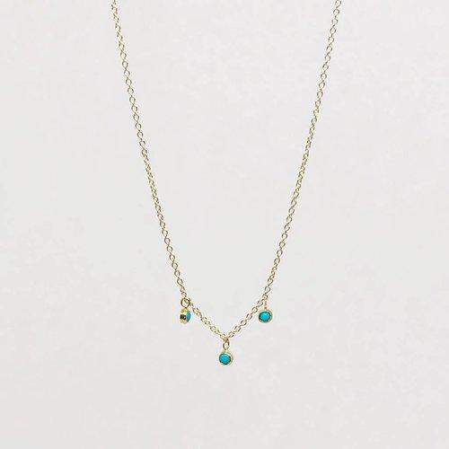Jennifer Meyer Jennifer Meyer 3  Turquoise Bezel Dangle Necklace