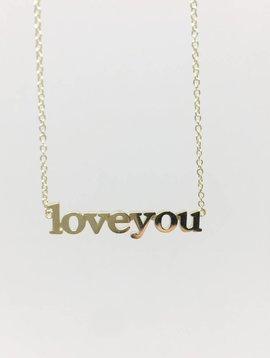 "Jennifer Meyer ""Love you"" Necklace"