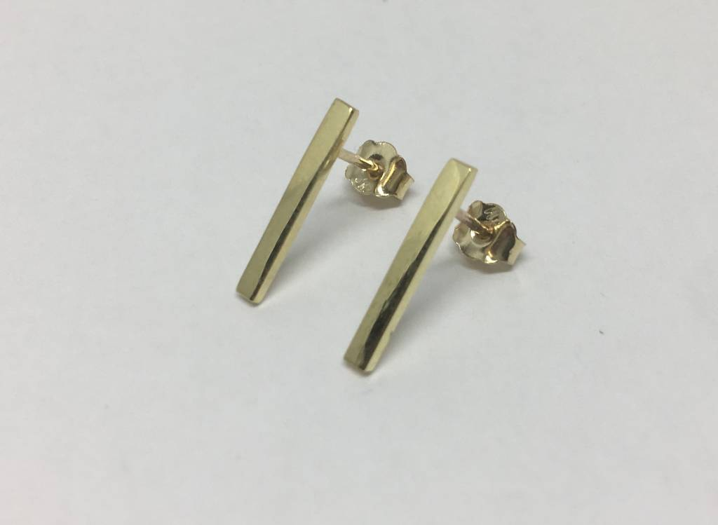 Jennifer Meyer Long Bar Earrings