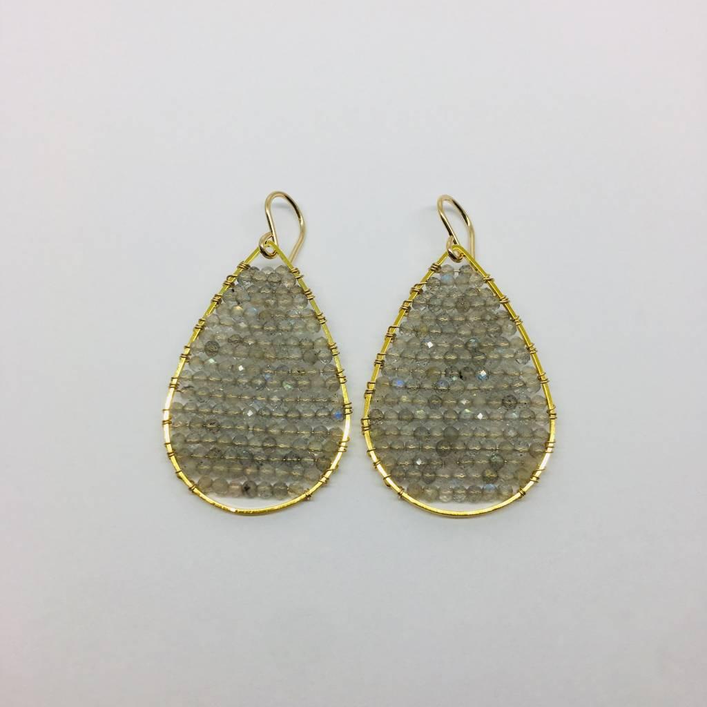 SonyaRenee Posh Pyrite Earrings