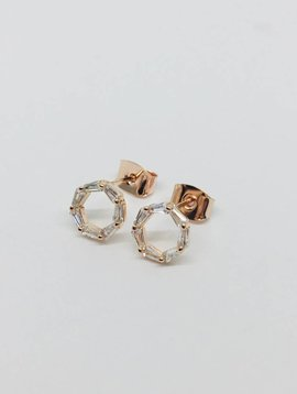 Theia Rose Gold Eternity Earrings