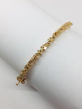 Kat Designs Rose Gold Baguette Cluster Bracelet