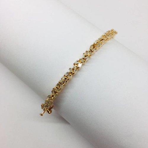 Kat Designs Rose Gold Baguette Plated Cluster Bracelet