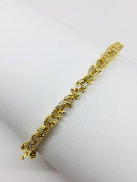 Kat Designs Gold Baguette Cluster Bracelet
