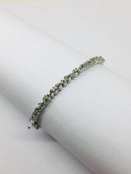 Kat Designs Silver Baguette Cluster Bracelet