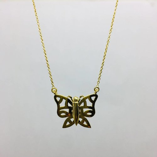 Lotasi Yellow Gold Butterfly Necklace