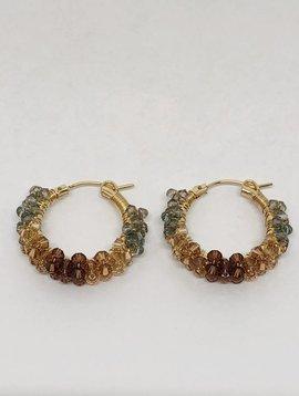 Viv & Ingrid Ombre Spiral Hoop Earrings
