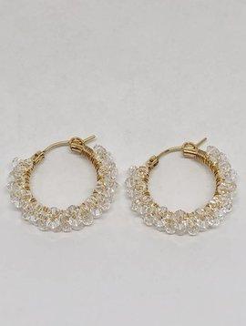 Viv & Ingrid Crystal Spiral Hoop Earrings