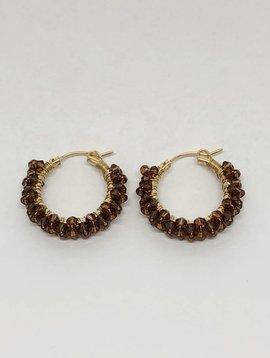 Viv & Ingrid Smokey Topaz Spiral Earrings