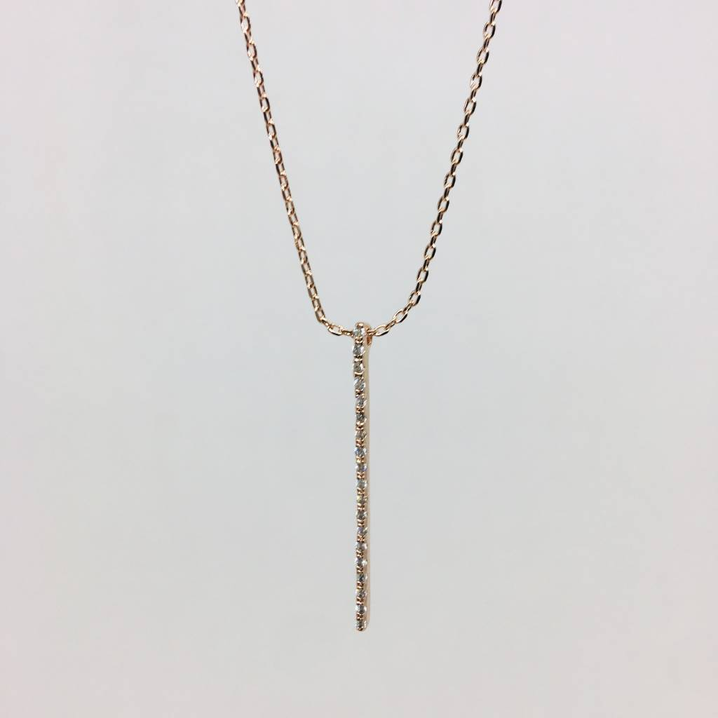 Theia Crystal Bar Necklace