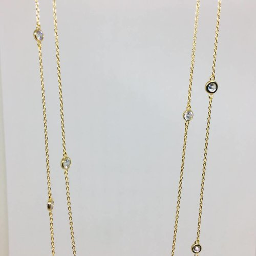 Theia Crystal Station Necklace