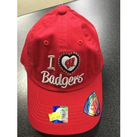 Wisconsin Badgers Womens Adjustable Hat - Red I Heart Badgers