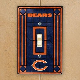 Chicago Bears Art Glass Single Light Switch Cover